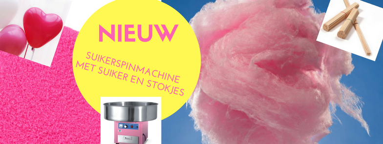 Huur suikerspinmachine met suiker NU € 70,00