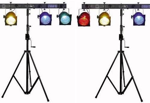 Discolampen met spots op statief
