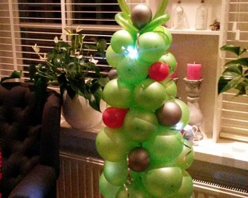 Mini Ballonnen Kerstboom