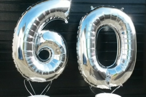 Cijfer Folie ballon zilver 100cm